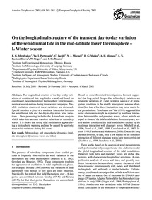 On the Longitudinal Structure of the Tra... by Merzlyakov, E. G.