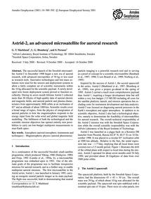 Astrid-2, an Advanced Microsatellite for... by Marklund, G. T.