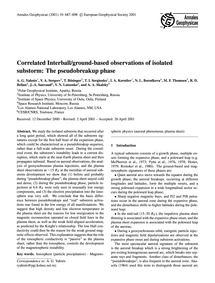 Correlated Interball/Ground-based Observ... by Yahnin, A. G.