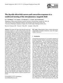 The Dayside Ultraviolet Aurora and Conve... by McWilliams, K. A.