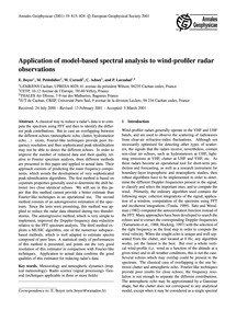 Application of Model-based Spectral Anal... by Boyer, E.