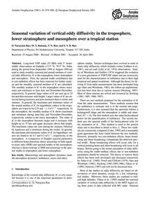 Seasonal Variation of Vertical Eddy Diff... by Narayana Rao, D.