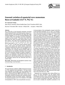 Seasonal Variation of Equatorial Wave Mo... by Sasi, M. N.