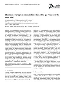 Plasma and Wave Phenomena Induced by Neu... by Laakso, H.