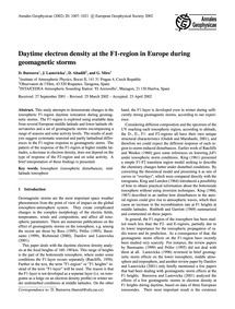 Daytime Electron Density at the F1-regio... by Buresova, D.