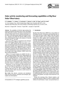 Solar Activity Monitoring and Forecastin... by Gallagher, P. T.