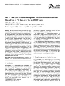 The ~ 2400-year Cycle in Atmospheric Rad... by Vasiliev, S. S.