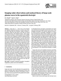 Imaging Radar Observations and Nonlocal ... by Hysell, D. L.