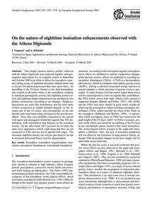 On the Nature of Nighttime Ionisation En... by Tsagouri, I.