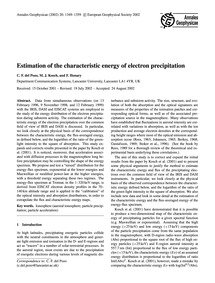 Estimation of the Characteristic Energy ... by Del Pozo, C. F.