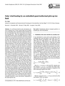 Solar Wind Heating by an Embedded Quasi-... by Fahr, H. J.