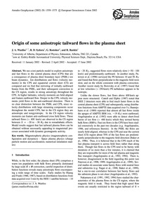 Origin of Some Anisotropic Tailward Flow... by Wanliss, J. A.