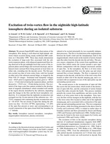 Excitation of Twin-vortex Flow in the Ni... by Grocott, A.