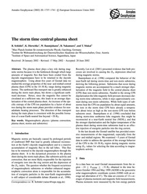 The Storm Time Central Plasma Sheet : Vo... by Schödel, R.