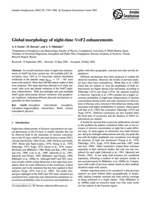 Global Morphology of Night-time NmF2 Enh... by Farelo, A. F.