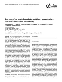 Two Types of Ion Spectral Gaps in the Qu... by Buzulukova, N. Y.