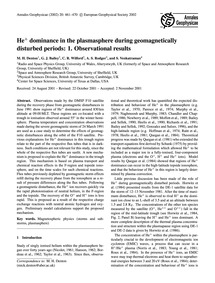 He+ Dominance in the Plasmasphere During... by Denton, M. H.
