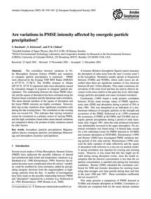 Are Variations in Pmse Intensity Affecte... by Barabash, V.