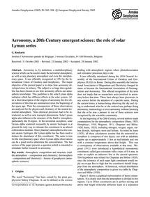 Aeronomy, a 20Th Century Emergent Scienc... by Kockarts, G.