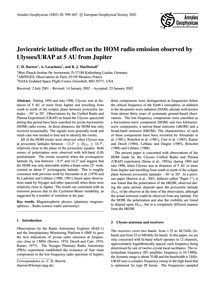 Jovicentric Latitude Effect on the Hom R... by Barrow, C. H.