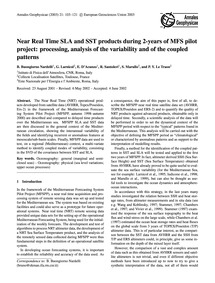 Near Real Time Sla and Sst Products Duri... by Buongiorno Nardelli, B.
