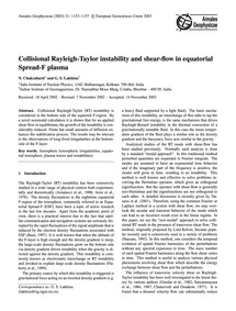 Collisional Rayleigh-taylor Instability ... by Chakrabarti, N.