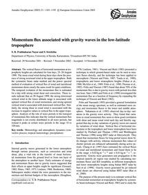 Momentum Flux Associated with Gravity Wa... by Prabhakaran Nayar, S. R.