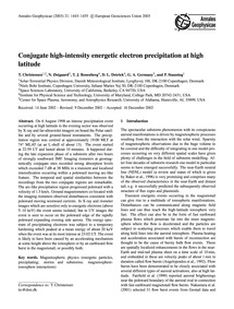Conjugate High-intensity Energetic Elect... by Christensen, T.