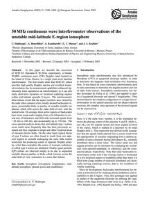 50 Mhz Continuous Wave Interferometer Ob... by Haldoupis, C.