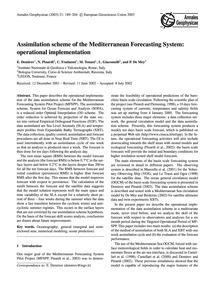 Assimilation Scheme of the Mediterranean... by Demirov, E.