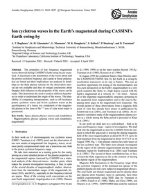 Ion Cyclotron Waves in the Earth's Magne... by Bogdanov, A. T.