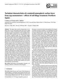 Turbulent Characteristics of a Semiarid ... by Yahaya, S.