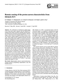 Remote Sensing of the Proton Aurora Char... by Bisikalo, D. V.