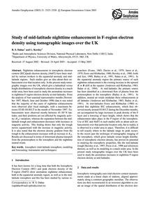 Study of Mid-latitude Nighttime Enhancem... by Dabas, R. S.