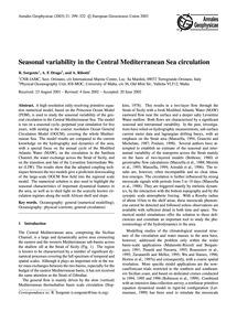 Seasonal Variability in the Central Medi... by Sorgente, R.