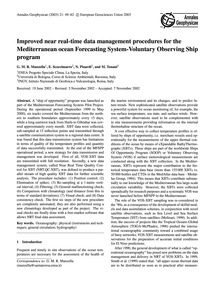 Improved Near Real-time Data Management ... by Manzella, G. M. R.