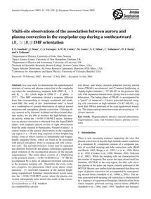 Multi-site Observations of the Associati... by Sandholt, P. E.