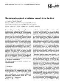 Mid-latitude Ionospheric Scintillation A... by Hajkowicz, L. A.