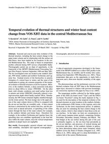 Temporal Evolution of Thermal Structures... by Kovačević, V.