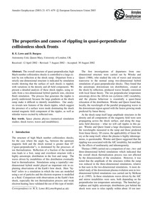 The Properties and Causes of Rippling in... by Lowe, R. E.