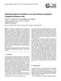 Statistical Analysis of Nonlinear Wave I... by Soucek, J.