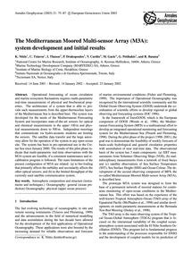The Mediterranean Moored Multi-sensor Ar... by Nittis, K.