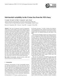 Sub-inertial Variability in the Cretan S... by Cardin, V.