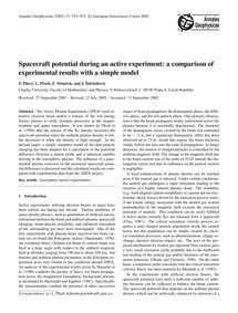 Spacecraft Potential During an Active Ex... by Žilavý, P.
