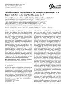 Multi-instrument Observations of the Ion... by Grocott, A.