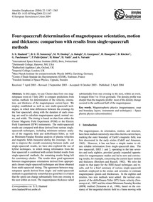 Four-spacecraft Determination of Magneto... by Haaland, S. E.
