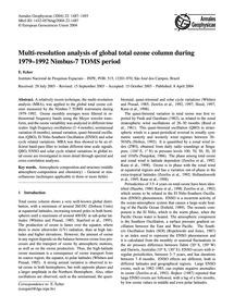 Multi-resolution Analysis of Global Tota... by Echer, E.
