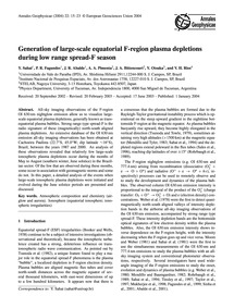 Generation of Large-scale Equatorial F-r... by Sahai, Y.