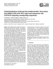 Global Distributions of Diurnal and Semi... by Manson, A. H.