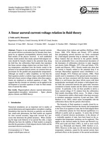 A Linear Auroral Current-voltage Relatio... by Vedin, J.